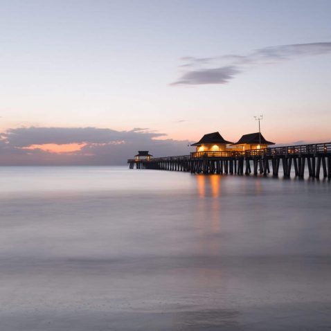 Naples Fishing Pier, Southwest Coast of Florida in the Gulf of Mexico