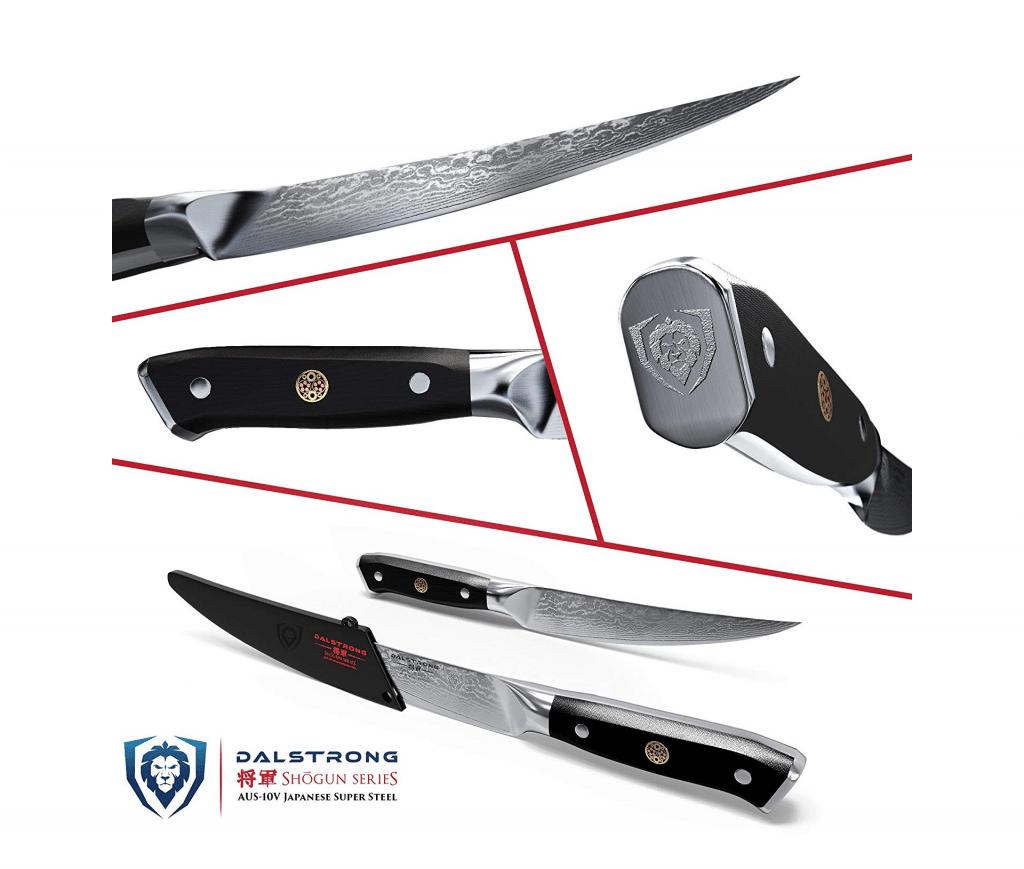 Dalstrong Fillet Knife Shogun Series Damascus Japanese AUS 10V Super Steel Vacuum Heat Treated
