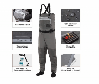Piscifun Breathable Chest Waders